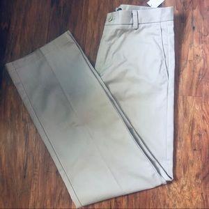 IZOD Flat Front Straight Leg Kahki Slack 30/32 NWT